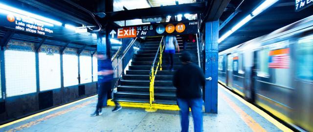 Entrada de metro en Brooklyn