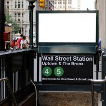 Entrada de metro en Wall Street